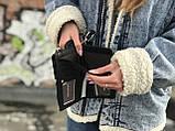 Маленька жіноча сумочка чорного кольору, фото 3