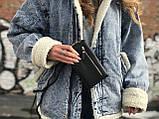 Маленька жіноча сумочка чорного кольору, фото 5