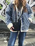 Жіноча сумочка на плече чорна, фото 3