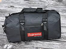 Мужская спортивная сумка черная Supreme