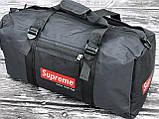 Мужская спортивная сумка черная Supreme, фото 3