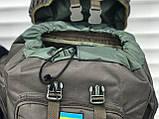 Великий тактичний рюкзак на 65 літрів, чорний, фото 4