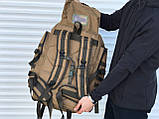 Великий тактичний рюкзак койот (65л), фото 4
