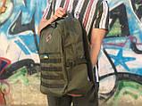 Чоловічий практичний рюкзак хакі, фото 3