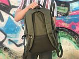 Мужской практичный рюкзак хаки, фото 4
