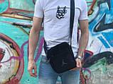 Черная мужская сумка на плечо Jordan, фото 3