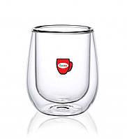 Скляний стакан з подвійними стінками Con Brio СВ-8720, 1 шт, 200мл