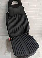 Ортопедические био накидки накладки EKKOSEAT на автомобильное кресло. Комплект. Черная, серая, бежевая
