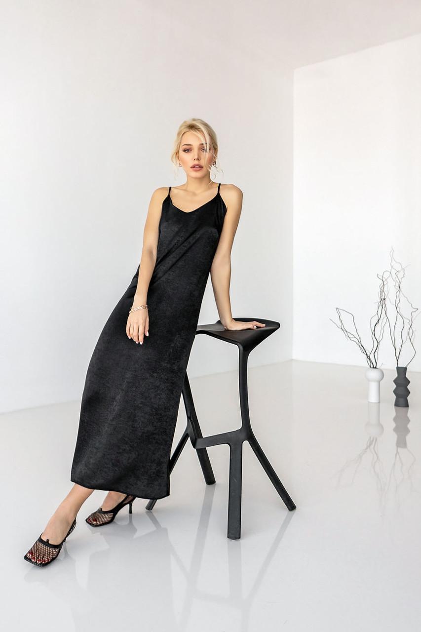 Шовкова сукня на бретелях