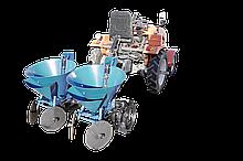 Картоплесаджалка дворядна ланцюгова з БДУ до мототрактору Преміум (фіксоване междурядие)