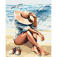 "Яркая картина раскраска по номерам Люди ""Под пьянящим солнцем"" KHO2698, 40х50 см живопись рисование в"