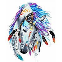 """͛ Яркая картина раскраска по номерам Картина по номерам Животные, птицы """"Грациозный воин"""" KHO4002, 40х50 см"""
