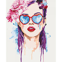 "͛ Яркая картина раскраска по номерам Люди ""В поисках любви"" KHO2694, 40х50 см живопись рисование в цифрах на"