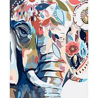 """Яркая картина раскраска по номерам Животные, птицы """"Восточные краски"""" 40х50 см KHO2470 живопись рисование в"""