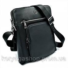Чоловіча шкіряна сумка H. T. Leather Чорного кольору 5499-3