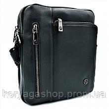 Чоловіча шкіряна сумка H. T. Leather Чорного кольору 5496-3