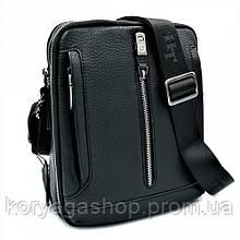Чоловіча шкіряна сумка H. T. Leather Чорного кольору 5435-4