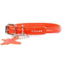 Ошейник WAUDOG GLAMOUR круглый для длинношерстных собак, ширина 6мм, длина 17-20см оранжевый 22264