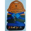 Шлея Collar Dog Extreme, нейлон+кожа, с поводком, морские свинки, декоративные крысы, 06952, синий