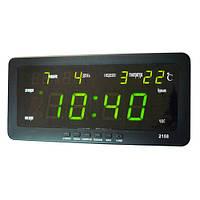 Часы настольные 2158-2 Зеленая подсветка, фото 1