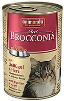Консерви Animonda Brocconis для дорослих кішок, домашня птиця і серце, 400г