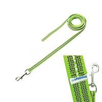 Прорезиненный поводок без ручки Sprenger для собак, нейлон, неоново-зеленый, 2х1000 см 59230_999_73