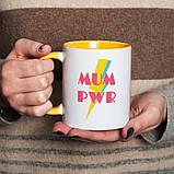 """Чашка з написом """"МUM PWR"""", 330 мл подарункова керамічна, фото 2"""