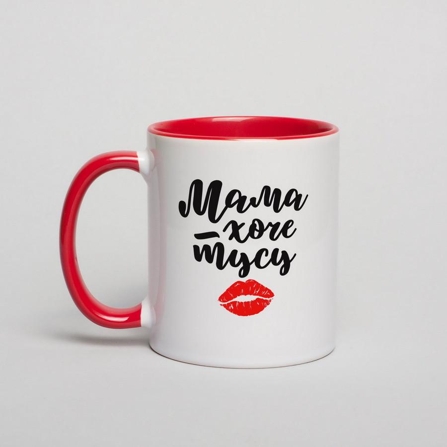 """Чашка подарочная керамика с надписью """"Мама хоче тусу"""", 330 мл Beridari"""