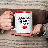 """Чашка подарочная керамика с надписью """"Мама хоче тусу"""", 330 мл Beridari, фото 2"""