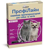 Ошейник для кошек и собак ProVET ПрофиЛайн фуксия 35 см