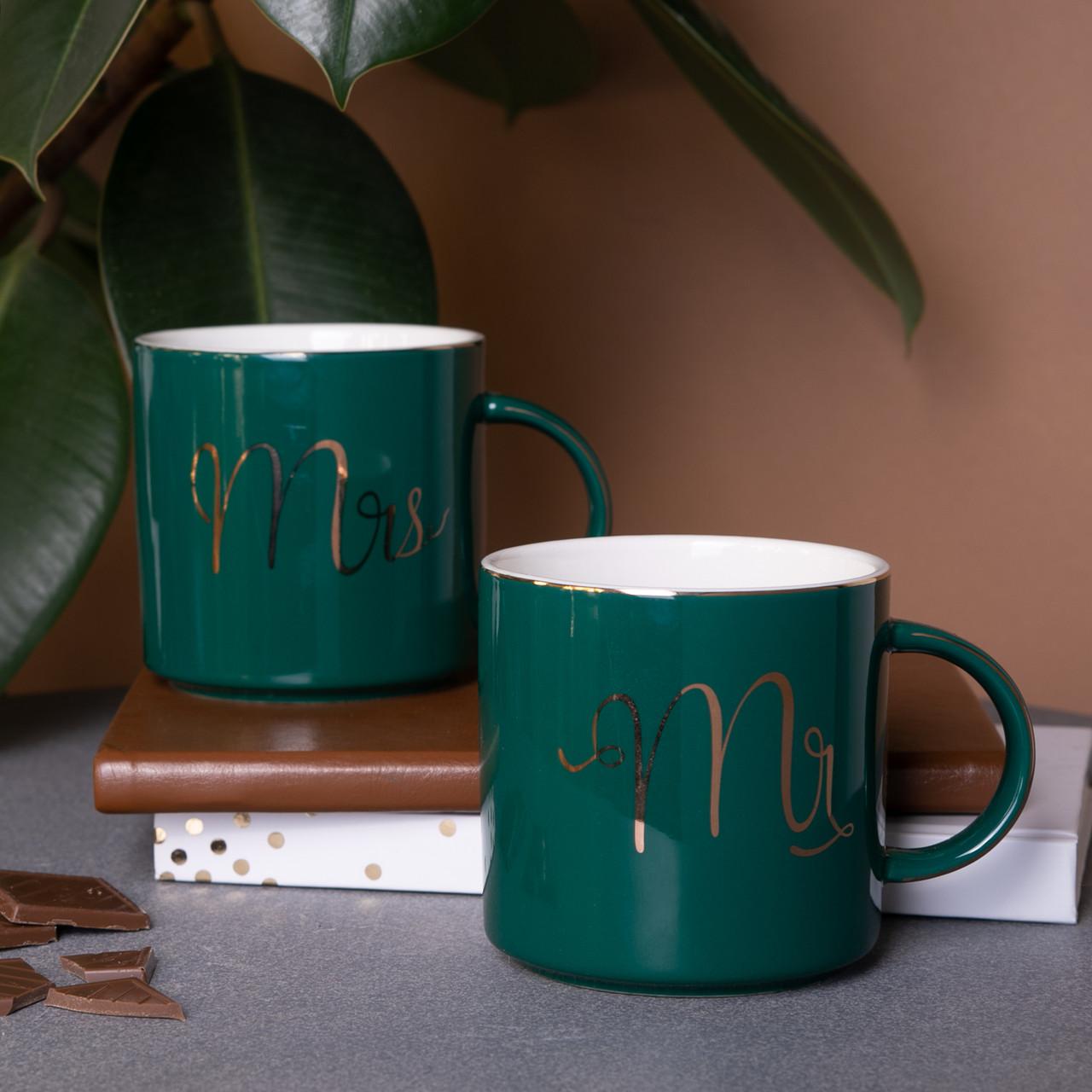 "Набор кружек ""Mr & Mrs"" для пары   парные кружки с надписью, 2 шт. Набор чашек подарочных"