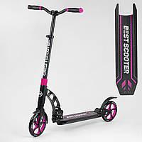 Самокат Best Scooter 48659 Розовый колеса PU - 20 см, фото 1