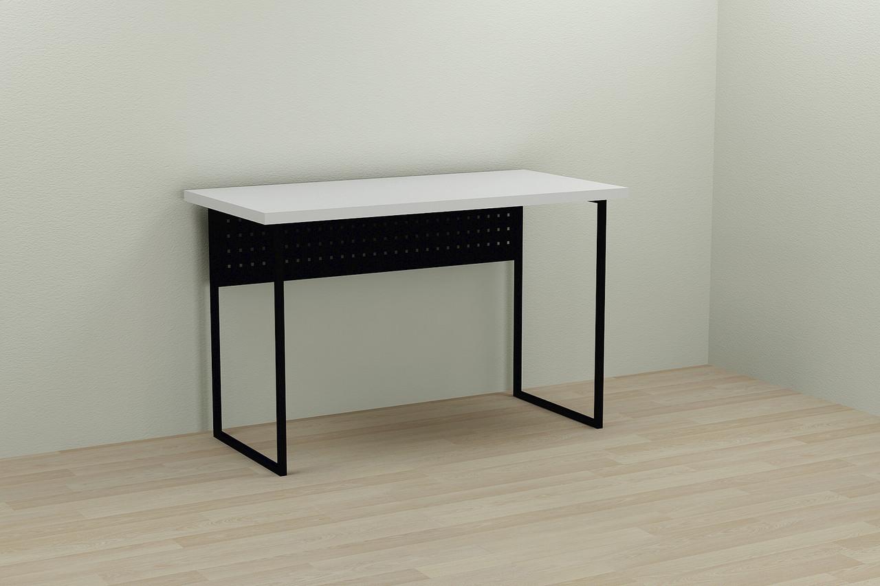 Компьютерный стол Ferrum-decor Майк 75x140x60 черный ДСП Белое 32мм