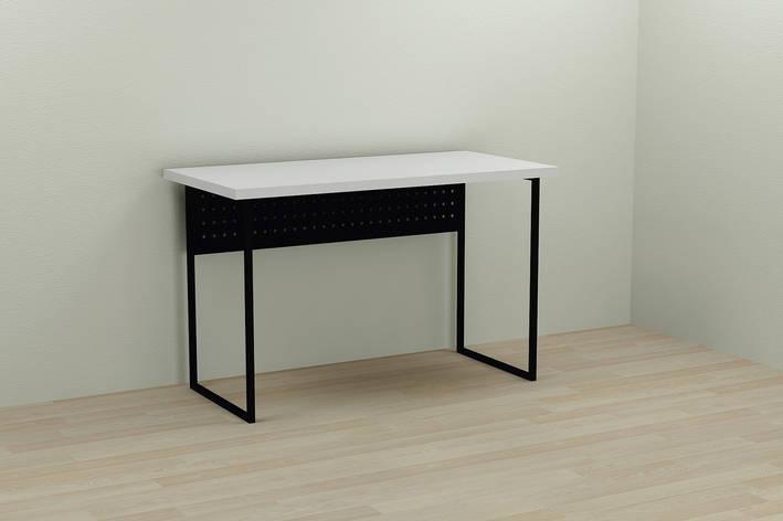 Компьютерный стол Ferrum-decor Майк 75x140x60 черный ДСП Белое 32мм, фото 2