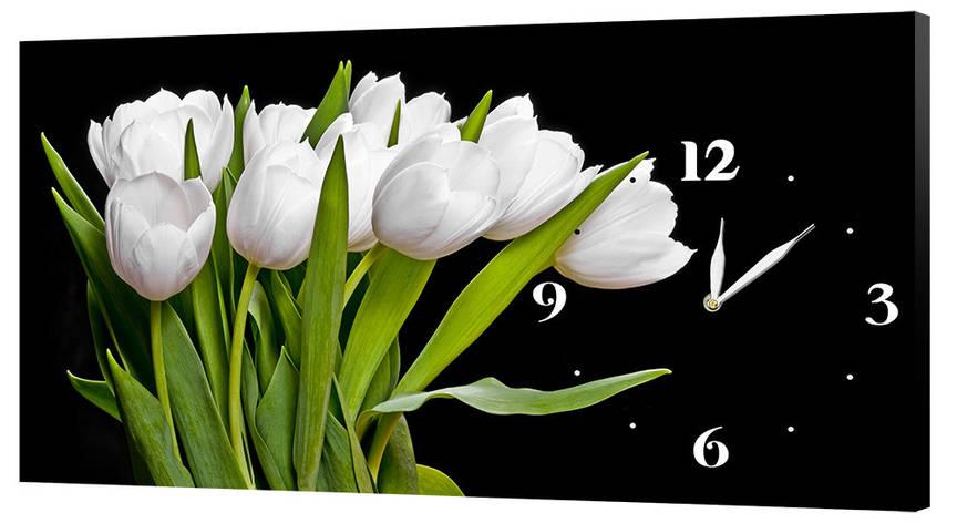 Настінні годинники Декор Карпати 24х44 Тюльпани (24х44-c246), фото 2