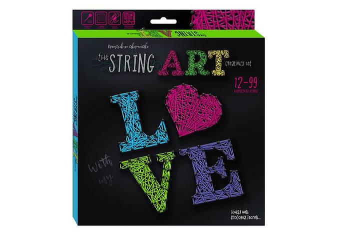 Набір креативного творчості String Art Love STRA-01-03 рос Dankotoys (STRA-01-01,02), фото 2