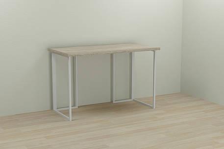 Комп'ютерний стіл Ferrum-decor Ханна 75x120x70 білий ДСП Дуб Сонома 32мм, фото 2