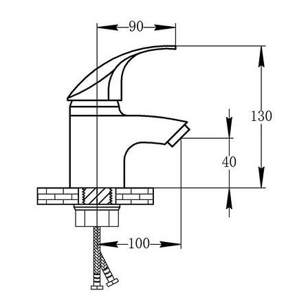 Змішувач для раковини Potato P07 P1007 (POTP1007), фото 2