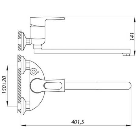Змішувач для ванни Zerix NHB 181 (ZX2970), фото 2