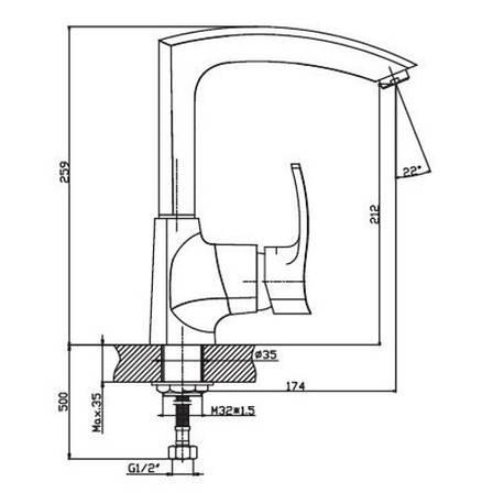 Смеситель для кухни Haiba Focus 018 SATIN HB0130, фото 2