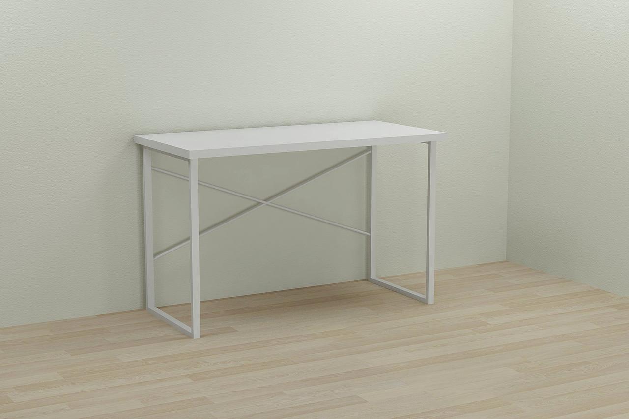 Компьютерный стол Ferrum-decor Дейв 75x140x60 белый ДСП Белое 32мм