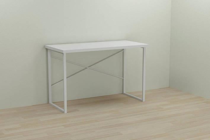 Компьютерный стол Ferrum-decor Дейв 75x140x60 белый ДСП Белое 32мм, фото 2