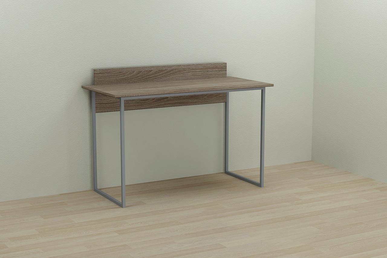 Компьютерный стол Ferrum-decor Скай 75x120x60 серый ДСП Дуб Сонома Труфель 16мм