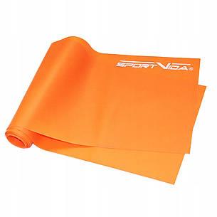 Лента-эспандер для спорта и реабилитации SportVida Flat Stretch Band 200 х 15 см 5-10 кг SV-HK0185, фото 2