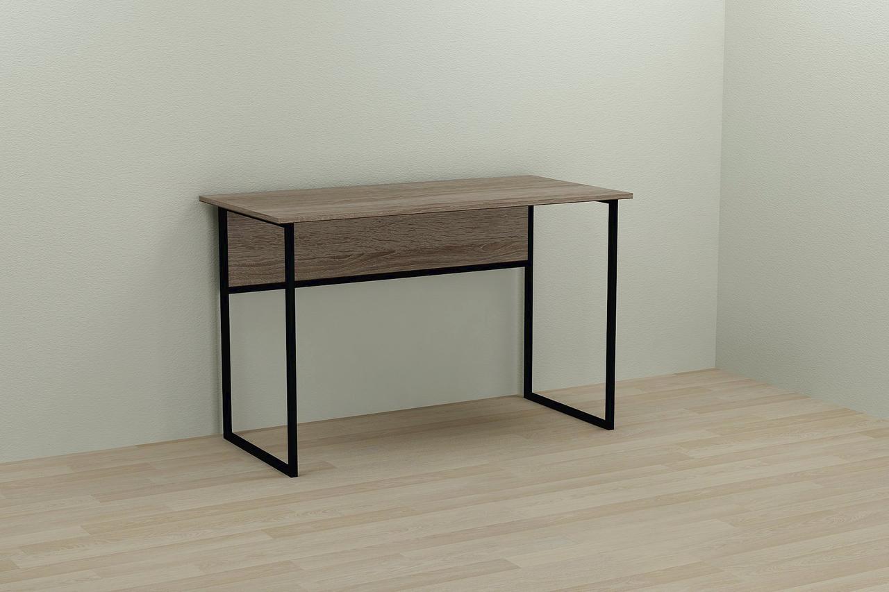 Комп'ютерний стіл Ferrum-decor Коді 75x140x60 чорний ДСП Дуб Сонома Труфель 16мм