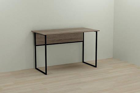 Комп'ютерний стіл Ferrum-decor Коді 75x140x60 чорний ДСП Дуб Сонома Труфель 16мм, фото 2