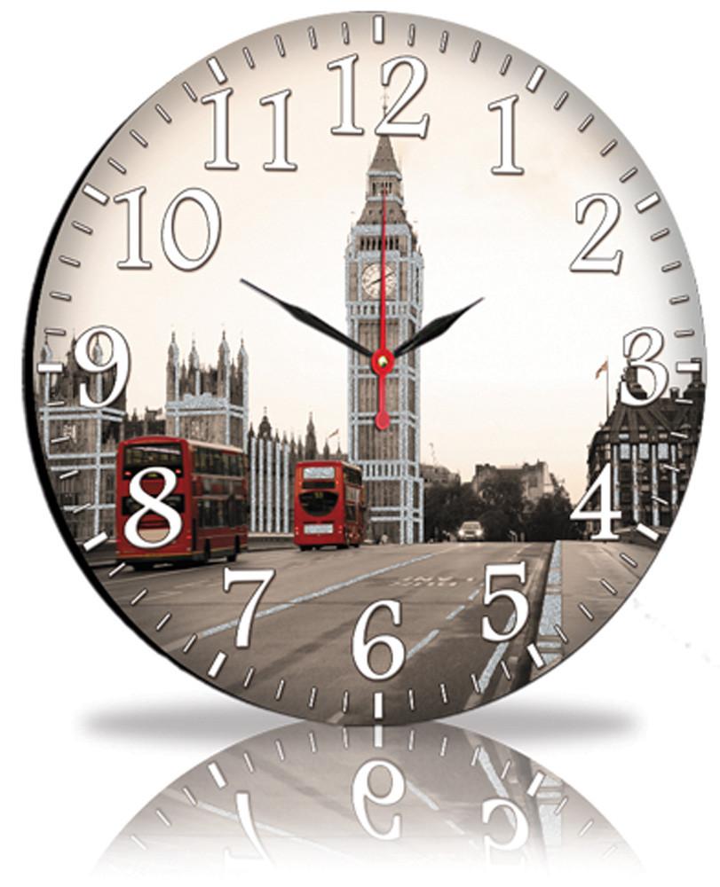 Настінні годинники Декор Карпати Сірий (45-101)