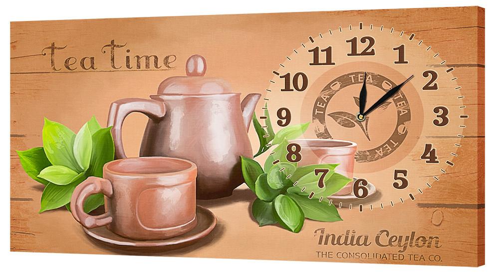 Настенные часы Декор Карпаты 53х29 Время для чая (53х29-ch36)