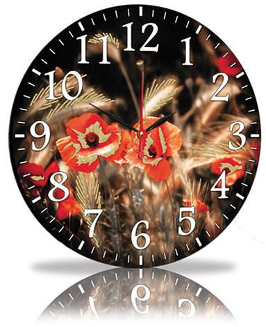 Настенные часы Декор Карпаты Маки (45-99), фото 2