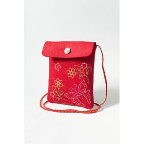Набір для творчості з фетру Метелик червоний Ідейка (97062-1), фото 2